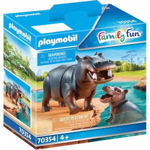 Playmobil Ιπποπόταμος Με Το Μικρό Του (70354)