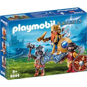 Playmobil, Βασιλιάς των Νάνων με Δύο Φρουρούς 9344