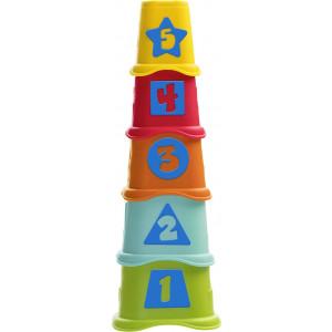 Chicco Πυραμίδα Με Κυβάκια 2 Σε 1 (09373-00)