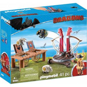 Playmobil O Σκόρδος Mε Kαταπέλτη Προβάτων (9461) Α