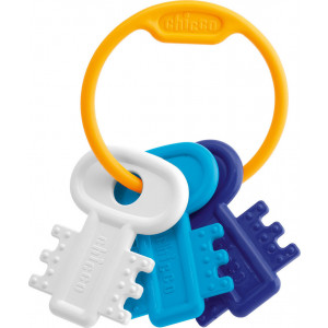 Chicco Κουδουνίστρα & Μασητικό Χρωματιστά Κλειδιά Σιελ (63216-20)