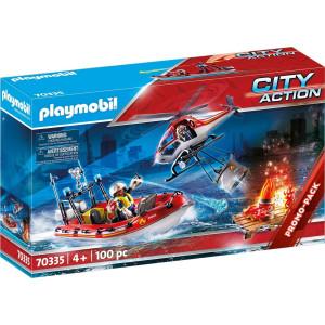 Playmobil Πυροσβεστικό Σκάφος & Ελικόπτερο (70335)
