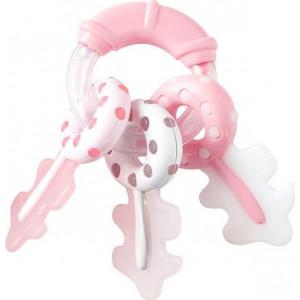 Kikka Βoo Κουδουνίστρα & Μασητικό Rattle Keys Pink (31303020041)