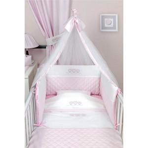 Σετ Σεντόνια 3τμχ Sweet Hearts 332 Pink