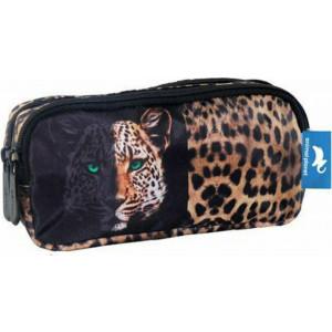 Κασετίνα Με 2 Θήκες Animal Planet Leopard (570686)