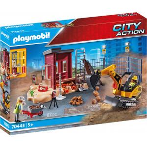 Playmobil Μικρός Εκσκαφέας Με Ερπύστριες & Δομικά Στοιχεία (70443)