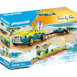 Playmobil Αυτοκίνητο Με Ανοιχτή Οροφή & Κανό (70436)