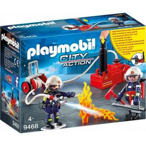 Playmobil Πυροσβέστες Με Αντλία Νερού (9468)