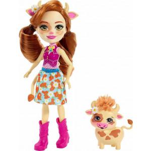 Enchantimals Κούκλα & Ζωάκι Cailey Cow & Curdle (FXM77)