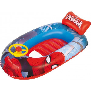 Bestway Φουσκωτή Βάρκα Με Τιμόνι Spiderman 112x71cm (98009)