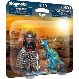 Playmobil Βελοσιράπτορας & Κυνηγός Δεινοσαύρων (70693)