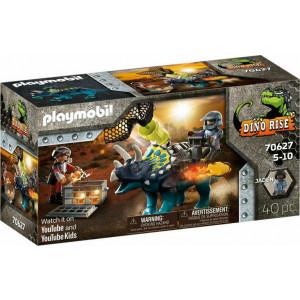 Playmobil Τρικεράτωψ Με Πανοπλία-Κανόνι & Μαχητές (70627)