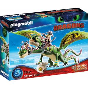 Playmobil Πέτρος & Πέτρα Με Δικέφαλο Δράκο Ρέψιμο & Αναγούλα (70730)