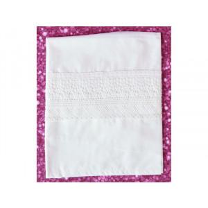 Λαδόπανα πετσέτες με δαντέλα εκρού 20408 orama