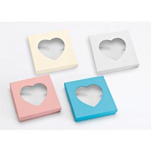 Μπομπονιέρες Γάμου Βάπτισης Κουτί με Τζάμι σε Σχήμα Καρδιάς 207-054 Boutlas