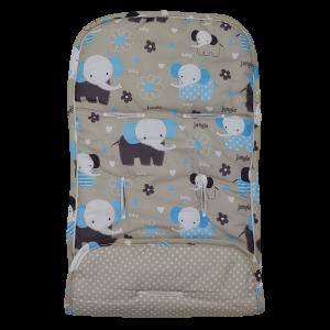 Στρωματάκι Καροτσιού BebeStars Διπλής Όψης Elephant Κωδ.186.001.018