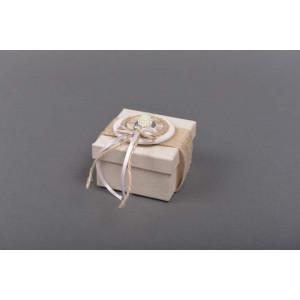 Μπομπονιέρα χειροποίητο κουτάκι(Κωδ.21.10.906-0.95) 7x7x5
