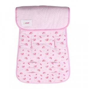 Στρωματάκι Καροτσιού Minene Διπλής Όψης Flowers Pink Κωδ.563.001.014