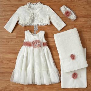 Ολοκληρωμένο πακέτο βάπτισηs με αυτό το φόρεμα (New Life Κωδ. 2214-9-100) Με βαλίτσα rain η παγκάκι θρανίο