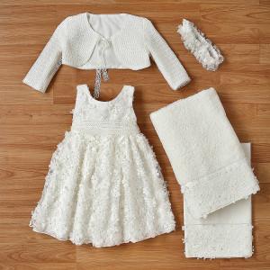 Ολοκληρωμένο πακέτο βάπτισηs με αυτό το φόρεμα (New Life Κωδ.2216-1-100) Με βαλίτσα rain η παγκάκι θρανίο