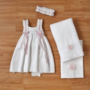 Ολοκληρωμένο πακέτο βάπτισηs με αυτό το φόρεμα (New Life Κωδ. 2226-1-100) Με βαλίτσα rain η παγκάκι θρανίο