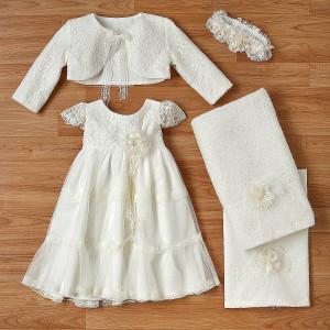 Ολοκληρωμένο πακέτο βάπτισηs με αυτό το φόρεμα (New Life Κωδ.2228-2-100) Με βαλίτσα rain η παγκάκι θρανίο