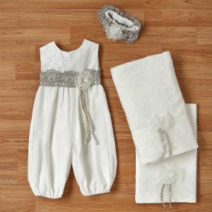 Ολοκληρωμένο πακέτο βάπτισηs με αυτό το φόρεμα (New Life Κωδ.2234-2-100) Με βαλίτσα rain η παγκάκι θρανίο
