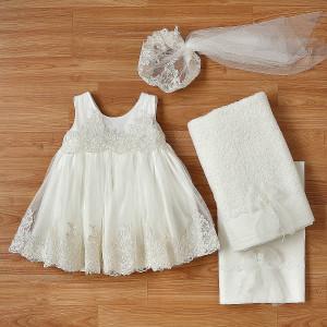 Ολοκληρωμένο πακέτο βάπτισηs με αυτό το φόρεμα (New Life Κωδ.2248-2-120) Με βαλίτσα rain η παγκάκι θρανίο.Δωρεάν μεταφορικά!