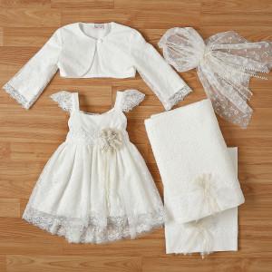 Ολοκληρωμένο πακέτο βάπτισηs με αυτό το φόρεμα New Life (#2310-6-110#) Με βαλίτσα rain η παγκάκι θρανίο. Δωρεάν Μεταφορικά!