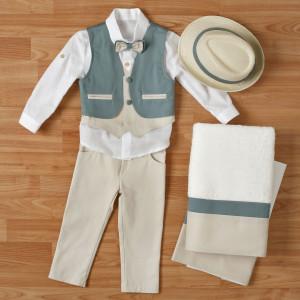 Ολοκληρωμένο πακέτο βάπτισηs με αυτό το κουστούμι (New Life #1Α2311-1-110#) Με βαλίτσα rain η παγκάκι θρανίο. Δωρεάν μεταφορικά!