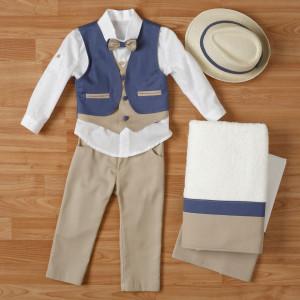 Ολοκληρωμένο πακέτο βάπτισηs με αυτό το κουστούμι (New Life #1Α2311-2-110#) Με βαλίτσα rain η παγκάκι θρανίο. Δωρεάν μεταφορικά!