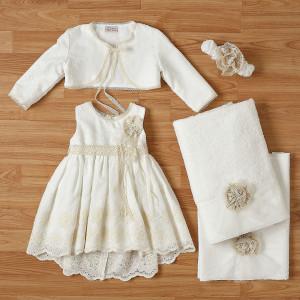 Ολοκληρωμένο πακέτο βάπτισηs με αυτό το φόρεμα New Life (#2314-2-110#) Με βαλίτσα rain η παγκάκι θρανίο. Δωρεάν Μεταφορικά!