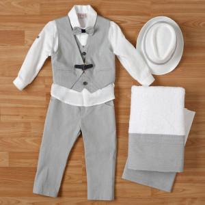 Ολοκληρωμένο πακέτο βάπτισηs με αυτό το κουστούμι (New Life #1Α2315-2-110#) Με βαλίτσα rain η παγκάκι θρανίο. Δωρεάν μεταφορικά!