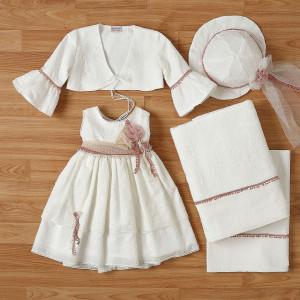 Ολοκληρωμένο πακέτο βάπτισηs με αυτό το φόρεμα New Life (#2316-9-110#) Με βαλίτσα rain η παγκάκι θρανίο. Δωρεάν Μεταφορικά!
