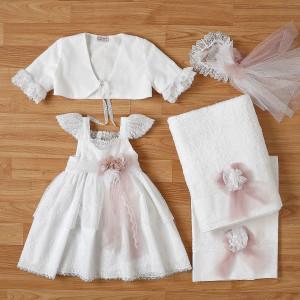 Ολοκληρωμένο πακέτο βάπτισηs με αυτό το φόρεμα New Life (#2318-4-110#) Με βαλίτσα rain η παγκάκι θρανίο. Δωρεάν Μεταφορικά!
