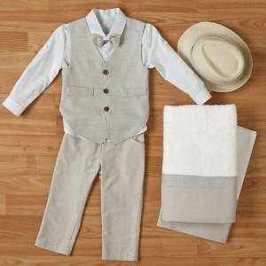 Ολοκληρωμένο πακέτο βάπτισηs με αυτό το κουστούμι (New Life #1Α2323-1-110#) Με βαλίτσα rain η παγκάκι θρανίο. Δωρεάν μεταφορικά!