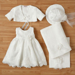 Ολοκληρωμένο πακέτο βάπτισηs με αυτό το φόρεμα New Life (#2330-2-120#) Με βαλίτσα rain η παγκάκι θρανίο. Δωρεάν Μεταφορικά!
