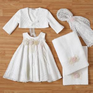 Ολοκληρωμένο πακέτο βάπτισηs με αυτό το φόρεμα New Life (#2332-2-110#) Με βαλίτσα rain η παγκάκι θρανίο. Δωρεάν Μεταφορικά!