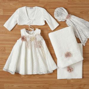 Ολοκληρωμένο πακέτο βάπτισηs με αυτό το φόρεμα New Life (#2332-9-110#) Με βαλίτσα rain η παγκάκι θρανίο. Δωρεάν Μεταφορικά!