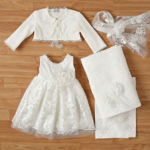 Ολοκληρωμένο πακέτο βάπτισηs με αυτό το φόρεμα New Life (#2344-2-110#) Με βαλίτσα rain η παγκάκι θρανίο. Δωρεάν Μεταφορικά!