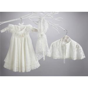 Ολοκληρωμένο πακέτο σετ βάπτισης με αυτό το φόρεμα New Life 2402-2 narlis.gr