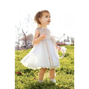 Ολοκληρωμένο πακέτο σετ βάπτισης με αυτό το φόρεμα New Life 2408-3 narlis.gr
