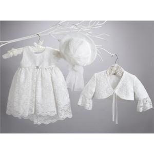 Ολοκληρωμένο πακέτο σετ βάπτισης με αυτό το φόρεμα New Life 2412-1 narlis.gr