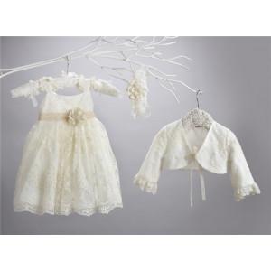 Ολοκληρωμένο πακέτο σετ βάπτισης με αυτό το φόρεμα New Life  2414-2. narlis.gr