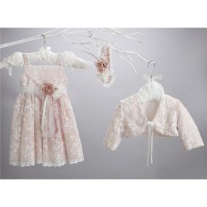 Ολοκληρωμένο πακέτο σετ βάπτισης με αυτό το φόρεμα New Life  2426-6. narlis.gr