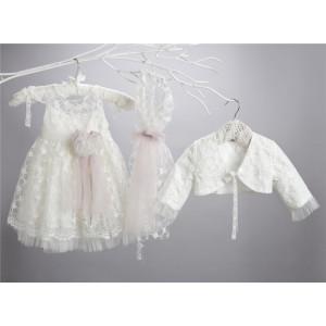Ολοκληρωμένο πακέτο σετ βάπτισης με αυτό το φόρεμα New Life  2428-2. narlis.gr