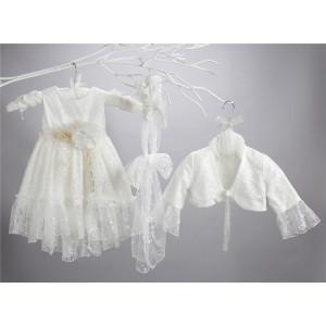 Ολοκληρωμένο πακέτο σετ βάπτισης με αυτό το φόρεμα New Life 2446-2. narlis.gr