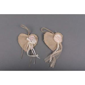 Μπομπονιέρα χειροποίητη καρδια (Κωδ.25.30.367-1.20) 13x13cm