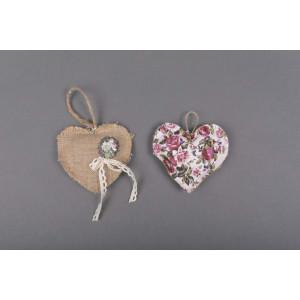 Μπομπονιέρα χειροποίητη καρδια (Κωδ.25.30.369-1.20) 13x13cm