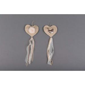 Μπομπονιέρα χειροποίητη καρδια (Κωδ.25.30.374-1.20) 40cm